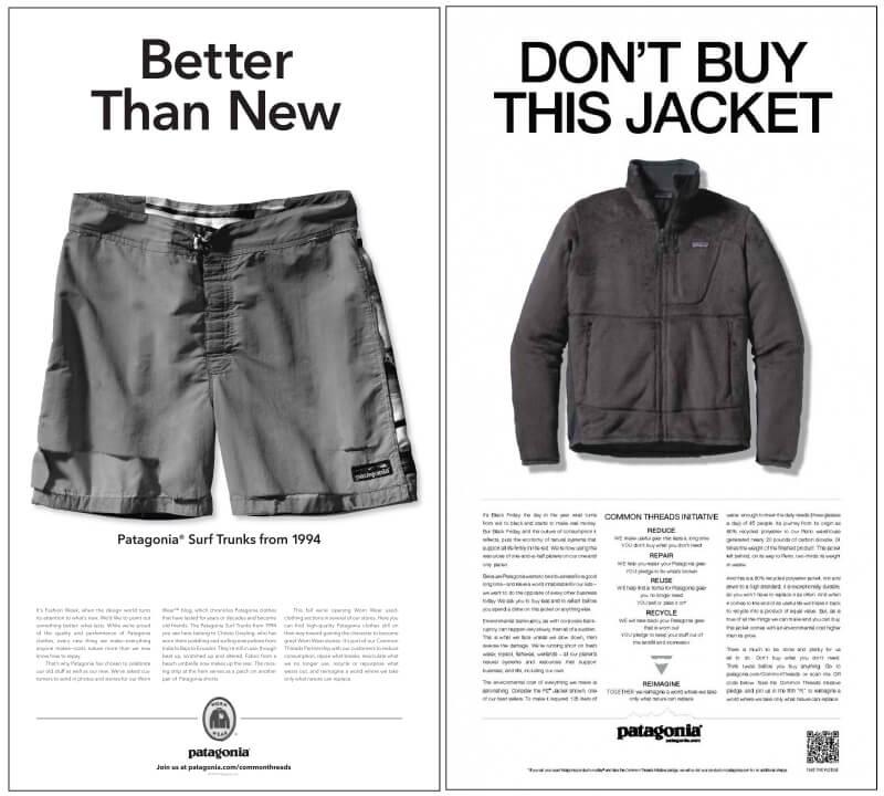 n'achetez pas cette veste - patagonia
